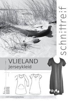 Schnittmuster,+Jerseykleid+VLIELAND++von+schnittreif+auf+DaWanda.com