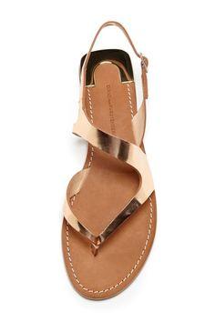 DVF Daphne Sandal. #sandals #shoes #gold