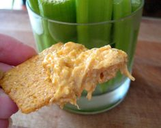 Warm Buffalo Chicken Dip -- made in a crock pot!