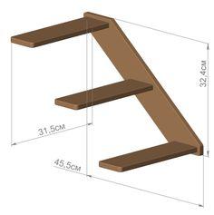 Ladder_dimensions for DIY cat climbings. #cats #CatClimb #CatStairs