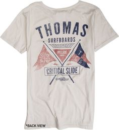 CRITICAL SLIDE X THOMAS SURFBOARDS PILLAGE SS TEE  Mens  Clothing  Tees Short Sleeve | Swell.com