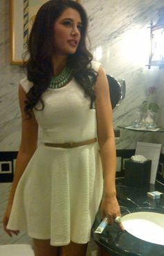 An exclusive pic of Nargis Fakhri from last night before the Kingfisher pre-derby event