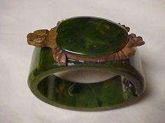 Vintage Rare 1930's Bakelite Turtle Carved by KollectedVintage