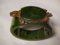 Vintage Rare 1930's Bakelite Turtle Carved by KollectedVintage