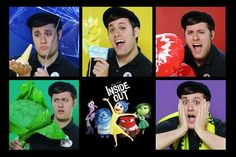 """Nick Pitera's """"emotions"""" for Inside Out. TOO cute!! :)"""
