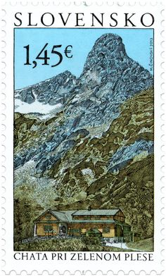 Chalet at Zelené Pleso : Tatra Motifs - Slovak Stamp, circa 2013 Nobel Prize In Literature, Old Stamps, Small Art, Fauna, French Artists, Stamp Collecting, Science And Nature, Postage Stamps, Illustrations Posters