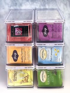 Tea Organization, Do It Yourself Organization, Kitchen Organization Pantry, Home Organisation, Organization Ideas For The Home, Organized Kitchen, Kitchen Storage Containers, Organizing Ideas For Kitchen, Kitchen Ideas