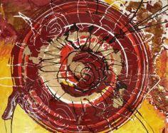 """Giuseppe Marchetti (Italy) """"8_12"""" - Smalti e pigmento metallico color oro su tavola rinforzata da telaio in legno (sul retro) cm.50x40"""