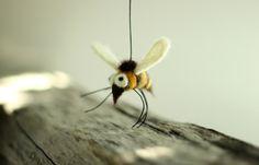 One Little Felt Bee   Needle Felt Bee  Home by FeltArtByMariana, $14.00