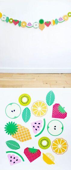 DIY Printable Fruit Garland