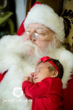 Santa sharing nap time