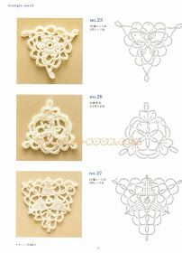 Solo esquemas y diseños de crochet: MODULOS several motif charts