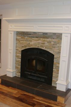 Tile Fireplace Surround Ideas | There was some suggestions to paint the  front of the hearth
