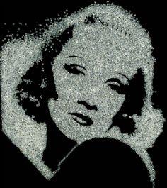Vik Muniz, Marlene Dietrich from Pictures Of Diamonds, 2004