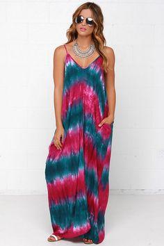 NWT LOVE STITCH HIPPIE BEACH Boho Slouchy Maxi Dress Sun/Summer w/ Pockets M/L  #LOVESTITCH #maxidress #Casual