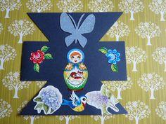 blauwe zandloperkaart met Baboesjka