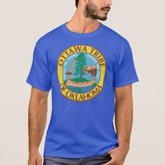 Ottawa Tribe of Oklahoma T-Shirt Native American tribes of Odawa Indians. Seal flag