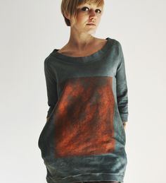 hand dyed hand painted by goshko Hand Painted, Sweatshirts, Sweaters, Clothes, Fashion, Outfits, Moda, Clothing, Fashion Styles