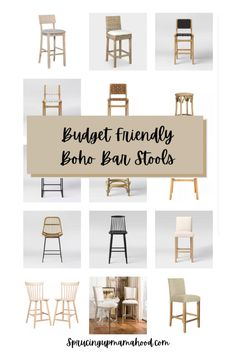 Have you been looking for the perfect boho bar stools for your kitchen island? Click the link to see my round up of all the best and budget friendly boho bar stools from Target, World Market and Walmart! These would also work well with farmhouse style! They are all neutral and perfect with all kitchen styles and colors! #diningroom #kitchen Dining Room Inspiration, Home Decor Inspiration, Boho Bar, Kitchen Design, Kitchen Decor, Kitchen Ideas, Woven Shades, Grey Furniture, Budget