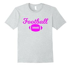 Pink Letters Football T-Shirt. For football fan lovers everywhere. Graphic tee for men, women and kids makes a perfect gift for Birthdays, Christmas, and Parties.
