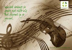 Muziek brengt je geest tot rust, als het stormt in je gevoel. @klaaver4ucoaching