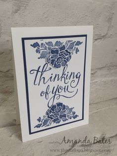 The Craft Spa - Stampin' Up! UK independent demonstrator : Super CAS Thinking of You Floral Phrases Cards