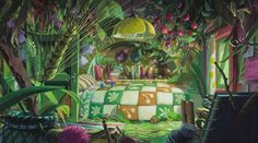 From the newest Studio Ghibli Movie: The Borrower Arrietty - I want my bedroom to look like this! ^ ^