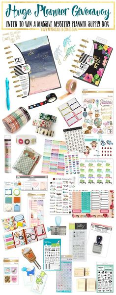 Are you a planner addict? Enter the planner giveaway for a chance to win a HUGE custom mystery planner supply box! It's going to be so fun and there will be TWO winners!   HUGE Planner Giveaway (January's Big Giveaway) http://mysocalledchaos.com/2017/01/huge-planner-giveaway.html