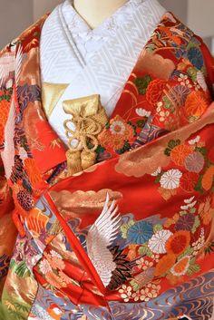 色打掛け 翡翠 キキフォトワークス Japanese Wedding Kimono, Sari, Fashion, Saree, Moda, Fashion Styles, Fashion Illustrations, Saris, Sari Dress