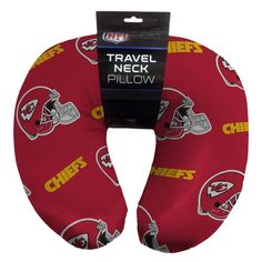 Kansas City Chiefs NFL Beadded Spandex Neck Pillow (12in x 13in x 5in)
