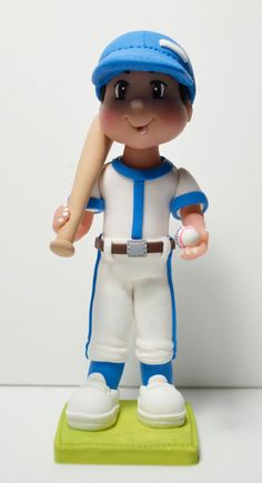 Baseball Boy Clay cake topper decoration or by HandcraftedCuties, $50.00