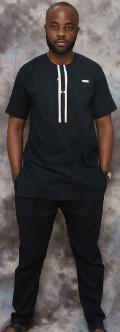 Noir hommes africains Caftan vêtements africains par HouseOfIzzi