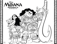 Download FREE Moana Coloring Pages and games from the Disney movie!