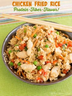This chicken fried rice made with egg whites and brown rice is a delicious, easy dinner that's good for you too! (Sponsored by All Whites)