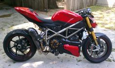 Ducati Streetfighter S with Double Dog's exhaust