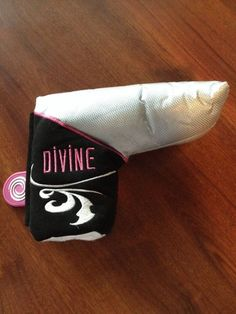 ODYSSEY LADIES PINK & SILVER DIVINE LINE BLADE PUTTER HEAD COVER HEADCOVER  GOOD