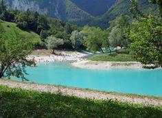Kleine Insel im Lago di Tenno