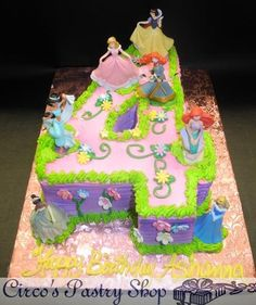 Princess cake with numeral shape