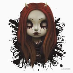 """""""Haunted""""  Lowbrow and Surrealism Pop art  on t-shirt, hoodies, pillows, bags, stickers, prints and more"""