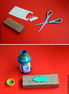 Como fazer? – Carimbos para decorar