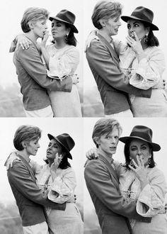 David Bowie y Elizabeth Taylor.