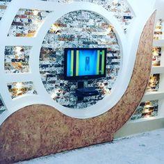 Modern Gypsum TV Wall Unit Decoration Design Ideas - Engineering Discoveries Modern Gypsum TV Wall U Wall Unit Designs, Living Room Tv Unit Designs, Home Design Living Room, Tv Unit Interior Design, Tv Unit Furniture Design, Lcd Wall Design, False Ceiling Design, Tv Unit Decor, Tv Wall Decor