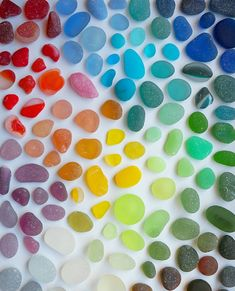 Wow, Beautiful & Colorful, Rainbow Stones Marbles.  ❤