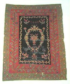 Merkkausliina tyyppinen ryijy Rya Rug, Soft Furnishings, Bohemian Rug, Carpet, Rugs, Wall, Decor, Museum, Farmhouse Rugs