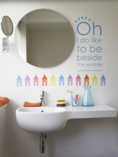 Contemporary Art Sites Seaside Song wall sticker