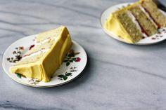 hazelnut strawberry celebration cake, by Seven Spoons