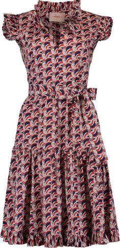 LA DOUBLE J Ruffle Neck Sassy Dress Short Sleeves, Short Sleeve Dresses, African Attire, Ruffle Dress, Irene, African Fashion, Sassy, Bodice, Slim