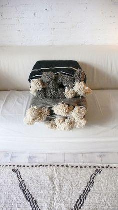 Beautiful Moroccan Blanket cotton, wool.
