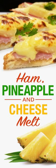 This is true comfort food! Ham, Pineapple and Cheese Melt. Perfect yummy recipe for lunch, snack or whatever. Quick and easy :). For more info, please visit http://www.recipezazz.com/