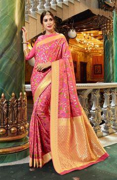 LIGHT PINK KANJIVARAM PURE SILK SAREE Pure Silk Sarees, Sari, Pure Products, Model, Pink, Fashion, Saree, Moda